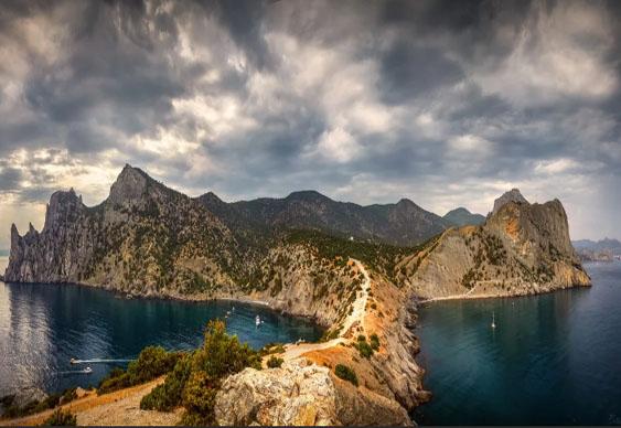 Маршрут на яхте в Крыму